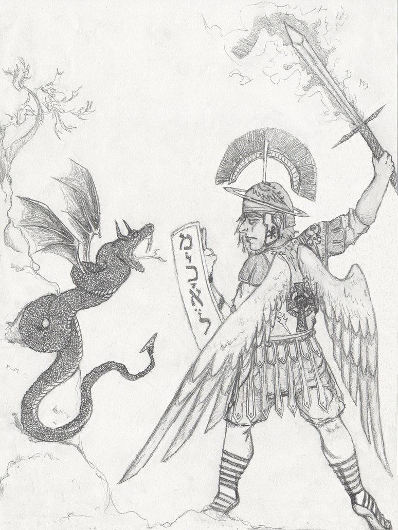 774x1032 Saint Michael The Archangel Smiting Lucifer By Fellangelserenity