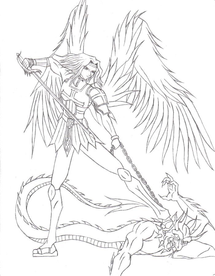 700x900 St. Michael Drawings Creative Healing Saint
