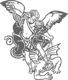 236x277 St Michael Defeats The Devil Coloring