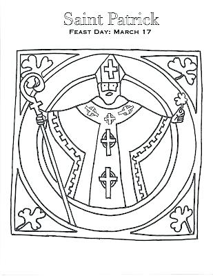 309x400 St Patrick Coloring Pages St Patricks Day Coloring Pages Catholic