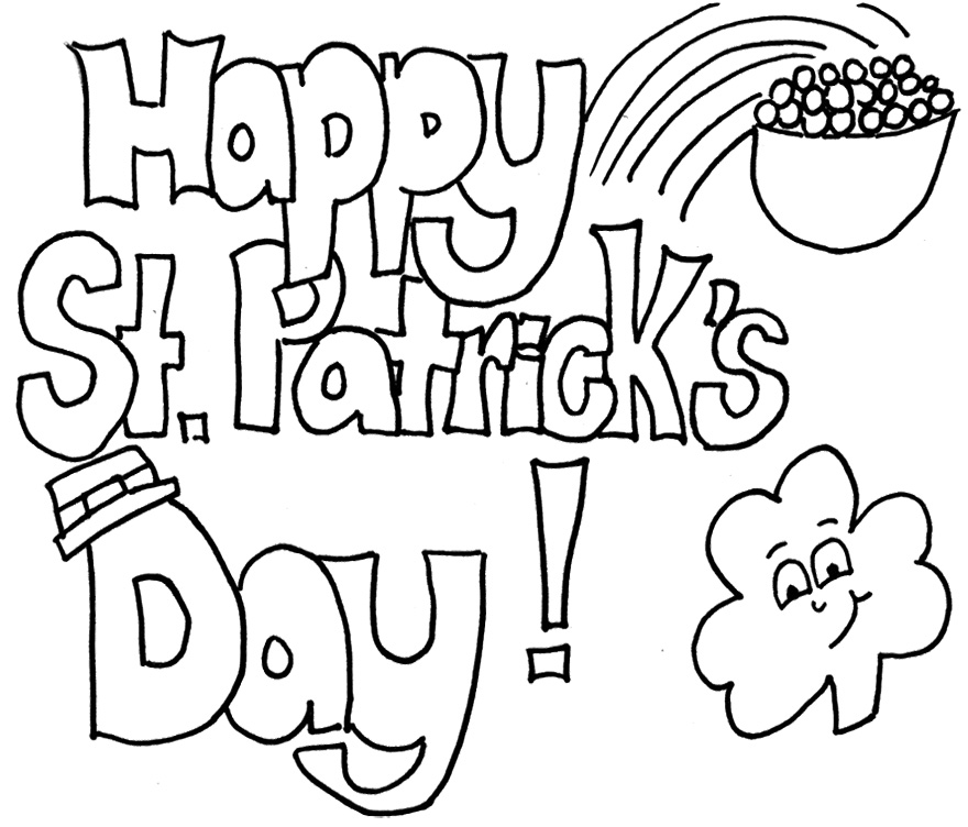 880x752 St Patricks Day Coloring Pages On St Patricks Day Drawings
