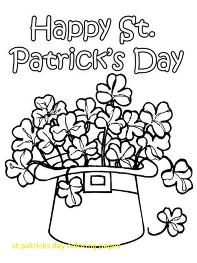 650x867 St Patricks Day Coloring Pages With 12 St Patrick S Day Printable