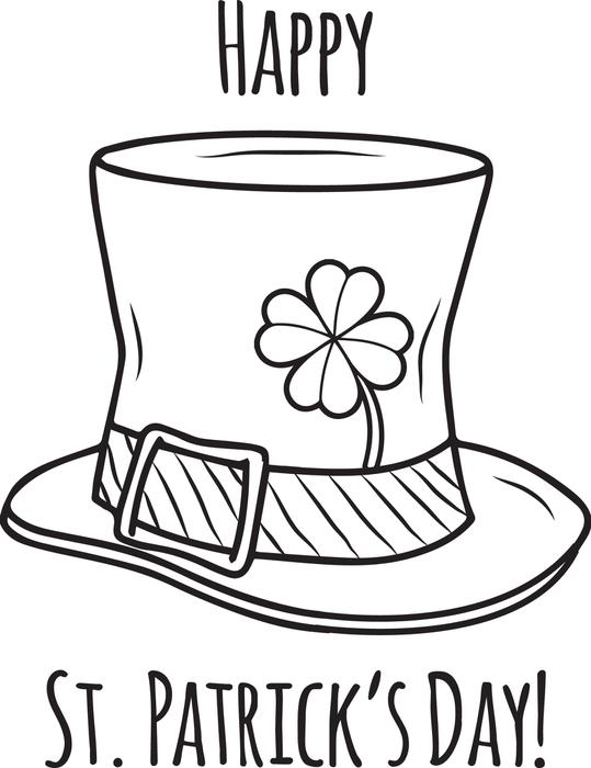 539x700 Free, Printable Happy St. Patrick's Day Coloring Page For Kids