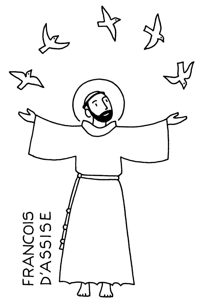 676x1024 image result for drawing of st francis to color francis