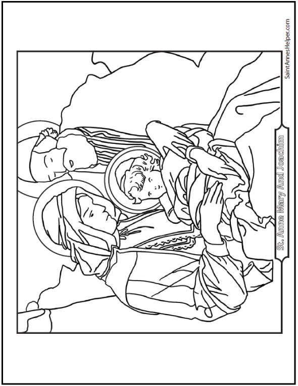 590x762 saints joachim and anne coloring page