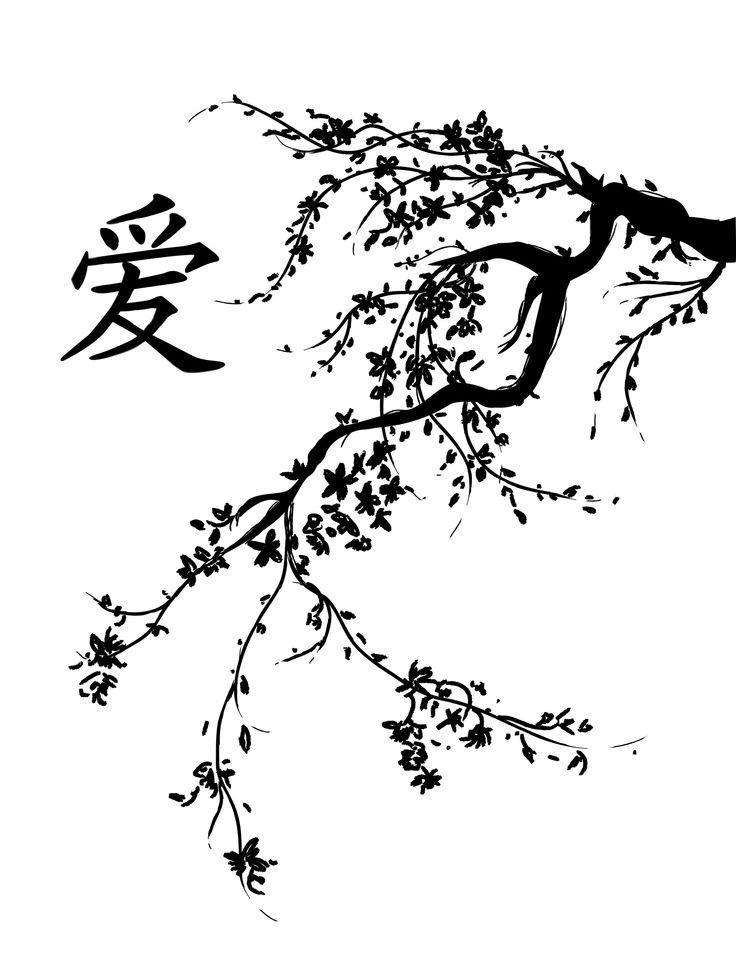 Sakura Tree Drawing