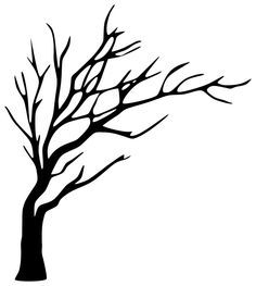 236x263 Leafless Tree Drawing Easy