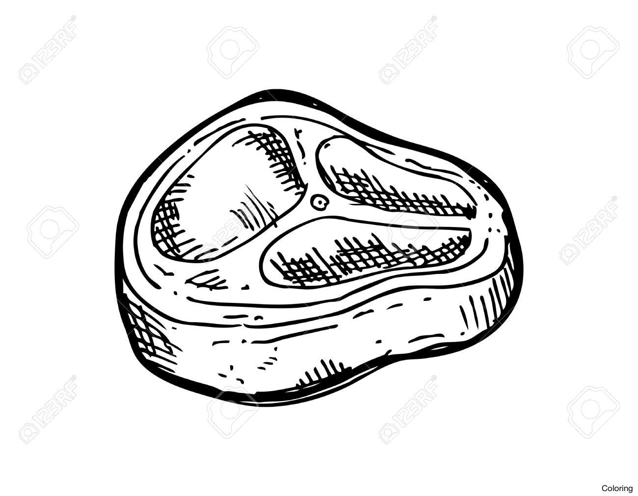 1300x1012 Depositphotos 166527796 Stock Illustration Sliced Beef Steak Hand