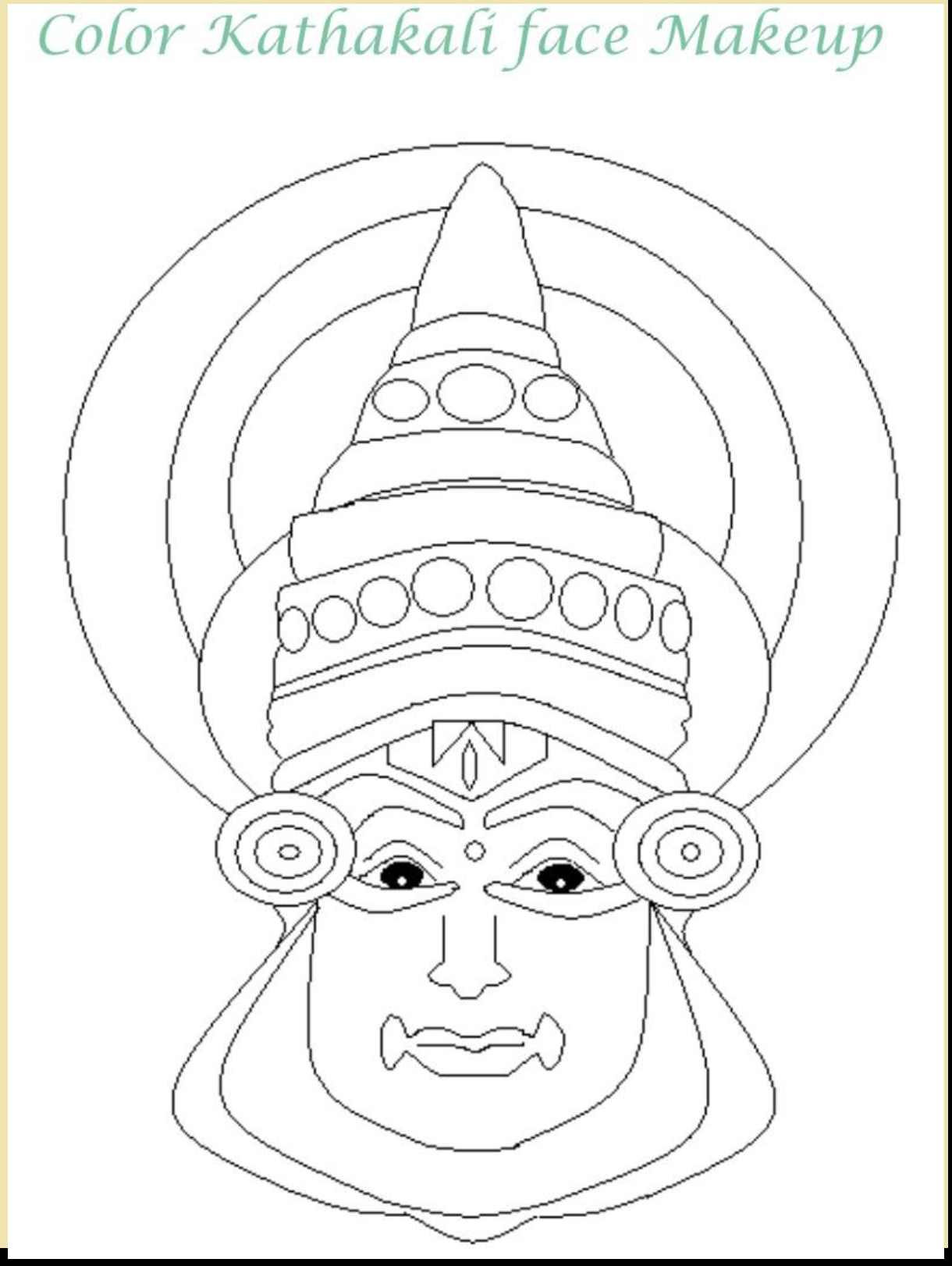 1220x1622 Kathakali Face Pencil Drawing Kathakali Paintings And Drawings
