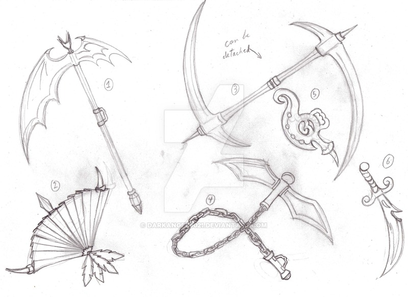800x582 Weapons Design Sketch 1 For Sale By Darkangel6021
