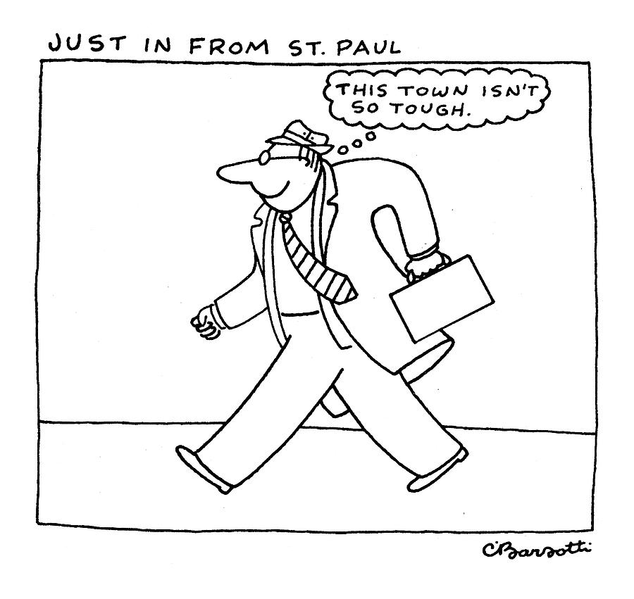 900x851 Just In From St. Paul Drawing By Charles Barsotti