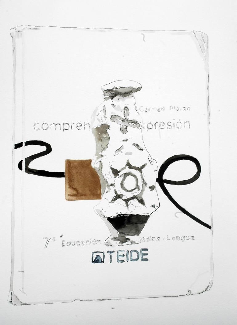 770x1053 Saatchi Art Teide Drawing By Jose Sales Albella