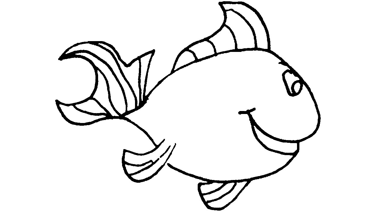 1280x720 Simple Drawing Of Fish How To Draw A Salmon Fish
