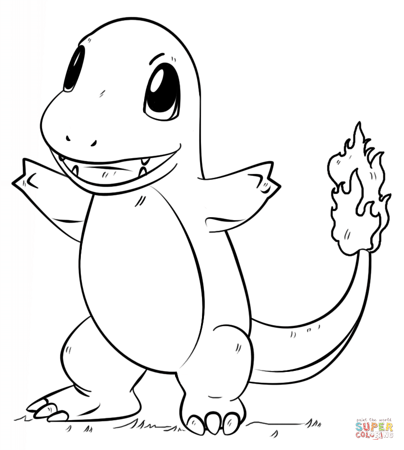 824x916 Pokemon Charmander Coloring Pages Colouring In Sweet Print Paint