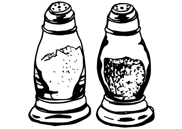 750x531 Coloring Page Salt And Pepper Shakers