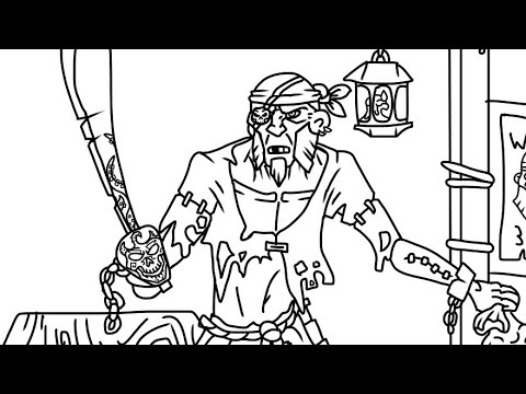 480x360 Drawing An Old Salt From Sea Of Thieves Pt.1