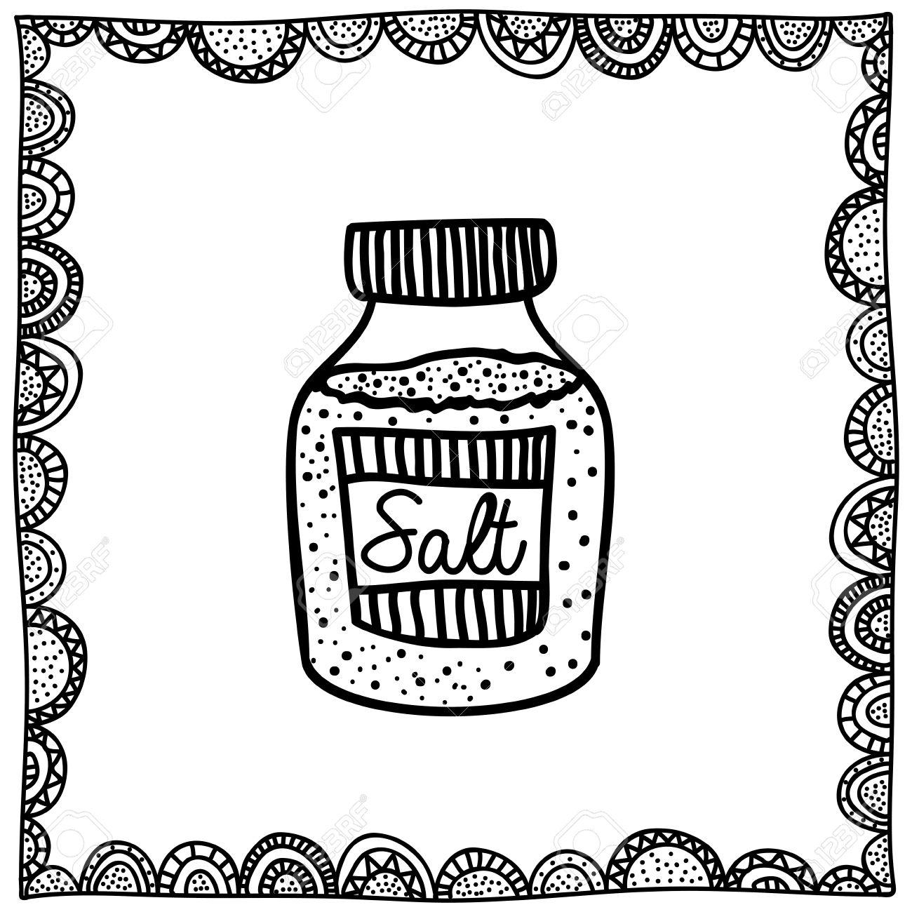 1300x1300 Salt Drawing Over White Background Vector Illustration Royalty