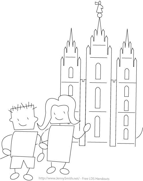 498x628 Lds Family Temple Coloring Pages Grand Kids Craft