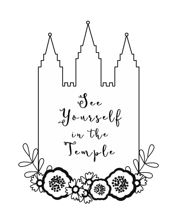 570x713 Lds See Yourself In The Temple Bampw 8x10 Digital By Rpixprints