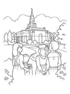 236x314 Lds Temple Coloring Page Lds Coloring Pages Lds