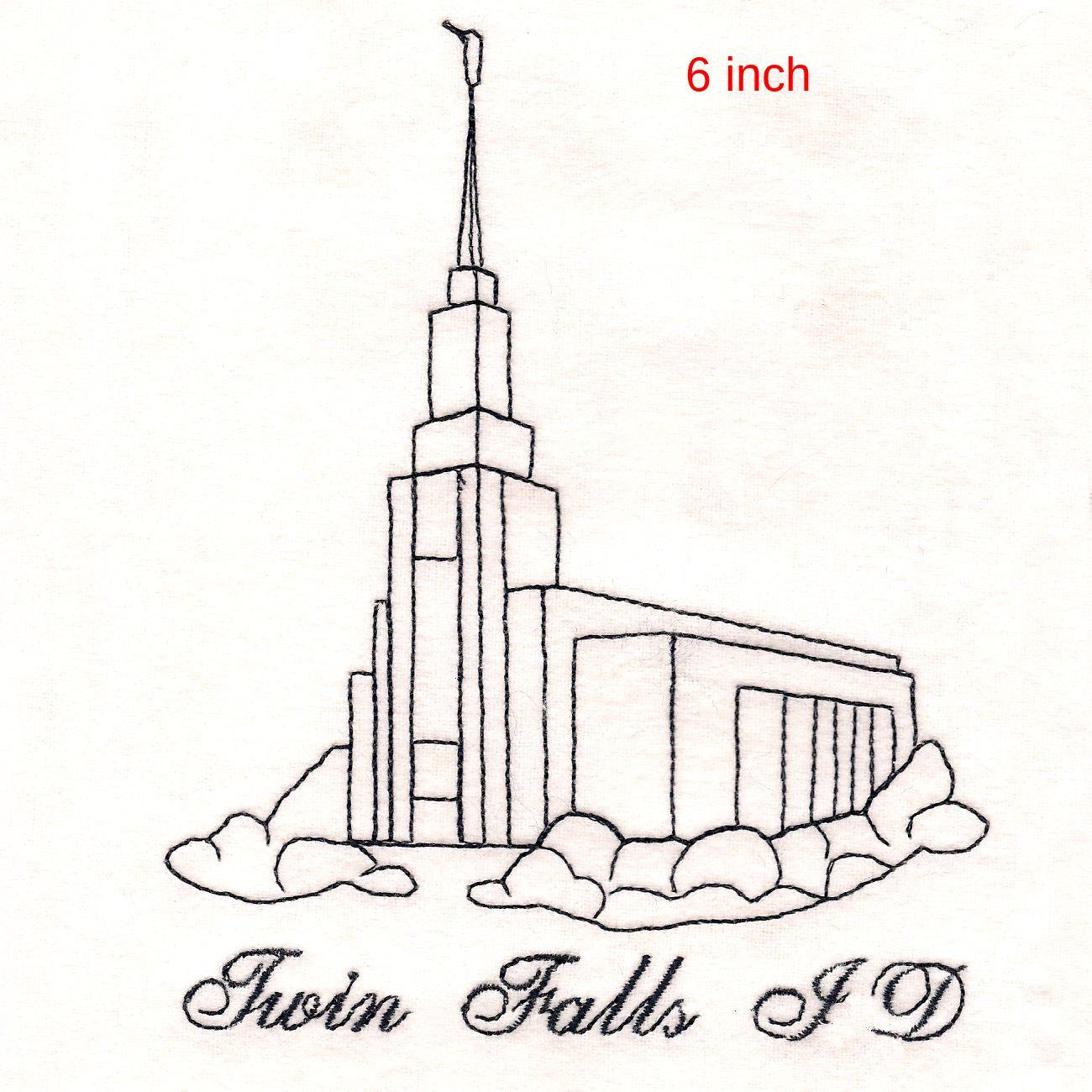 1300x1300 Lds Twin Falls Idaho Temple Machine Embroidery Design