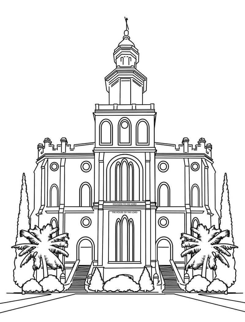 800x1050 Lds Temple Coloring Pages