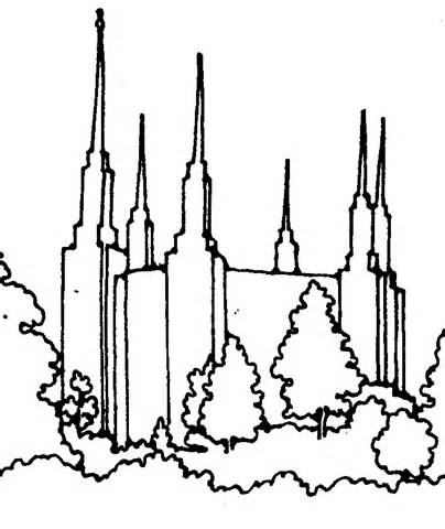 404x480 Sketch Of Slc Temple Coloring Pages Scrollsaw Slc