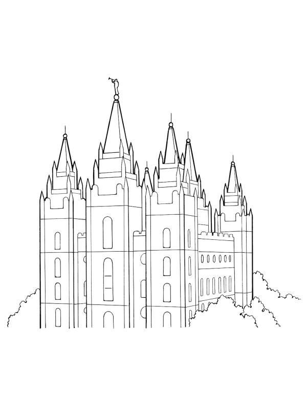 600x800 Salt Lake Temple Clipart