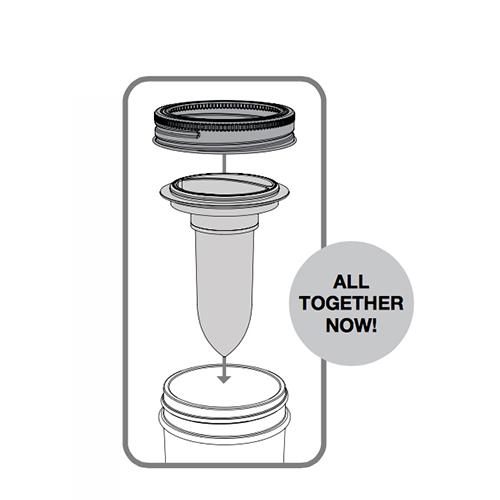 500x500 Jarware Jarware Regular Mouth Mason Jar Salt And Pepper Shaker