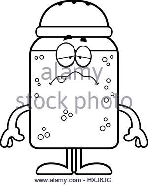 300x374 A Cartoon Illustration Of A Salt And Pepper Shaker Holding Hands