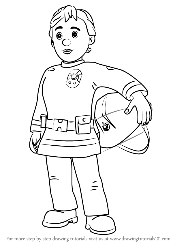 600x846 Learn How To Draw Penny Morris From Fireman Sam (Fireman Sam) Step