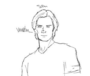 300x254 Sam Winchester By Dean Bean
