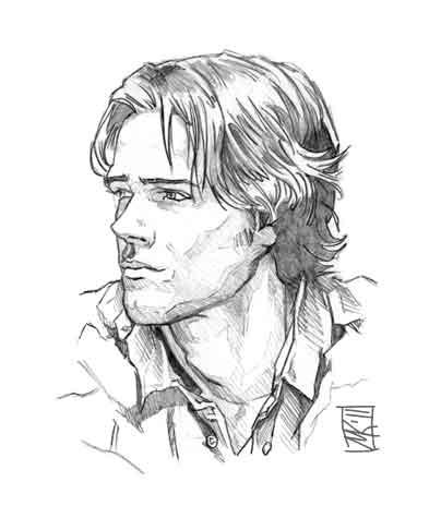 404x475 Sam Art Supernatural Sam Winchester Supernatural