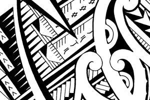 300x200 Mixed tattoo design with Maori and Samoan patterns and symbols