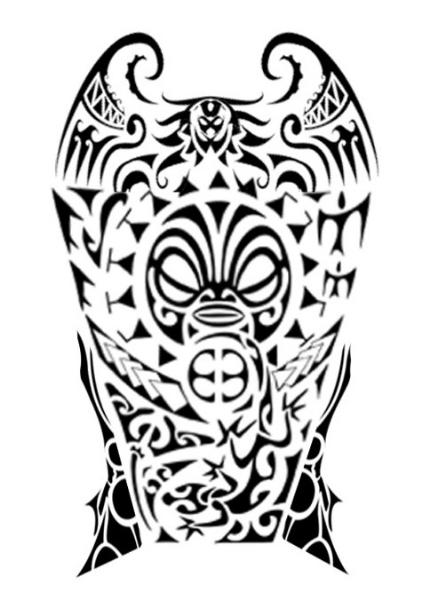 430x600 Samoan Aqua Tattoo Design