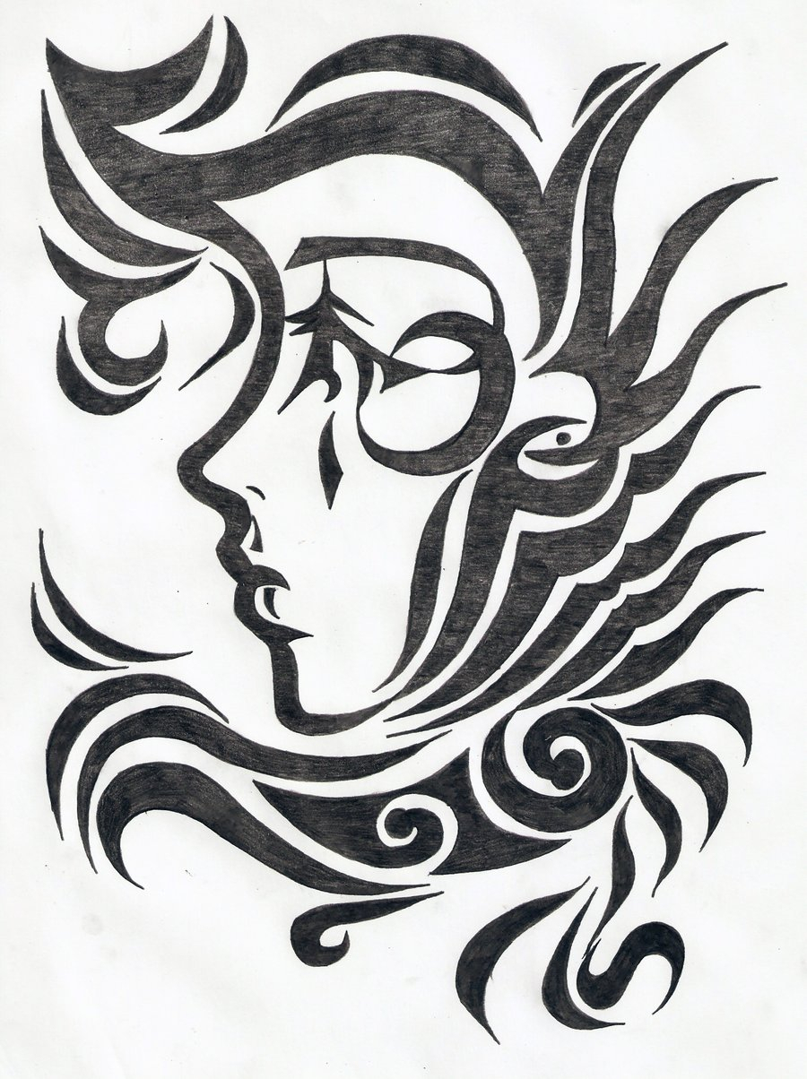 900x1204 Tribal Design Drawing Tribal Female Face Tattoo Design