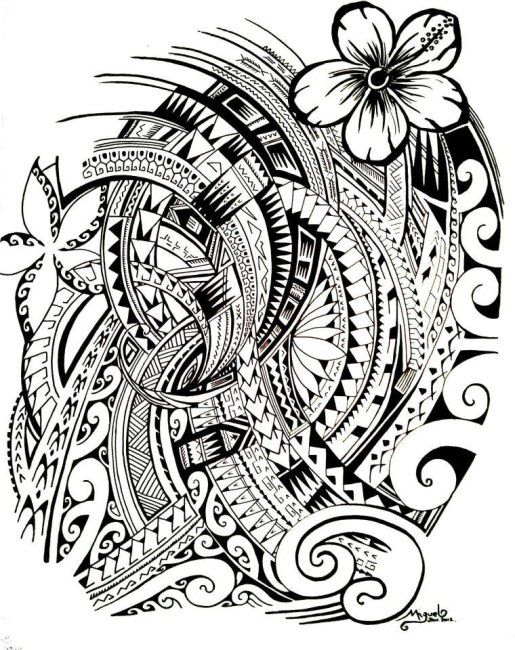 515x650 48 Coolest Polynesian Tattoo Designs Maori designs, Tattoo