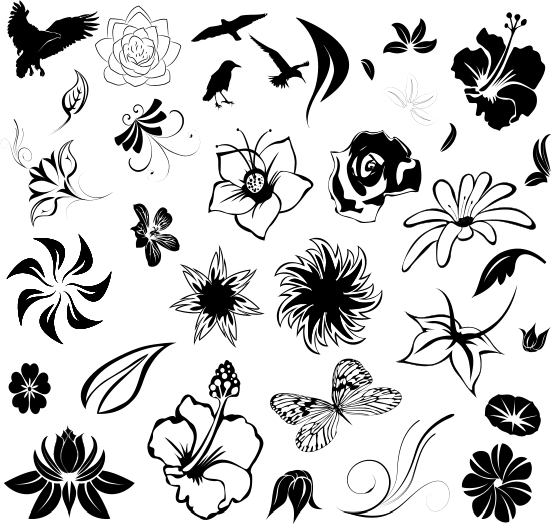 551x524 Many People Choose A Tattoo With A Floral Theme Hawaiian Flower