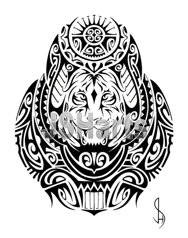 631x800 Collection Of Polynesian Tribal Tattoo Design On White Background