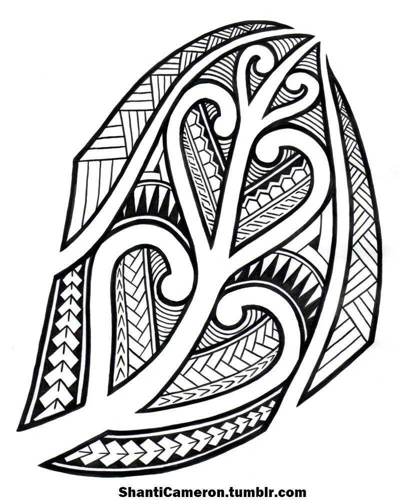 tribal samoan maori drawing getdrawings
