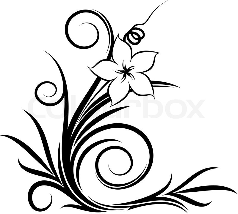 800x720 Filigree, Flower, Flourishes Stock Vector Colourbox