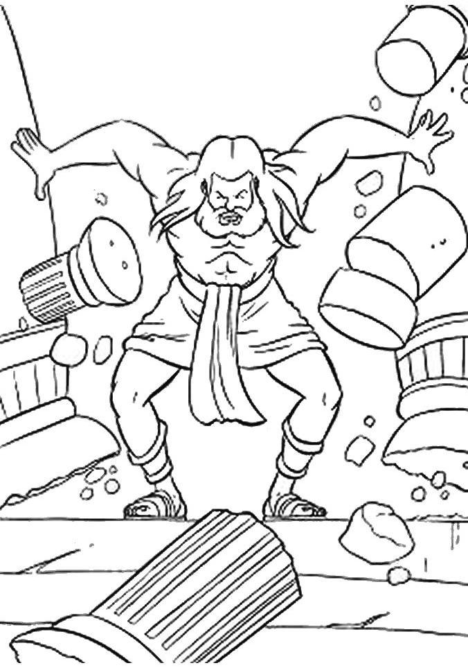 676x967 Good Samson Coloring Page 18 For Your Coloring Pages To Print