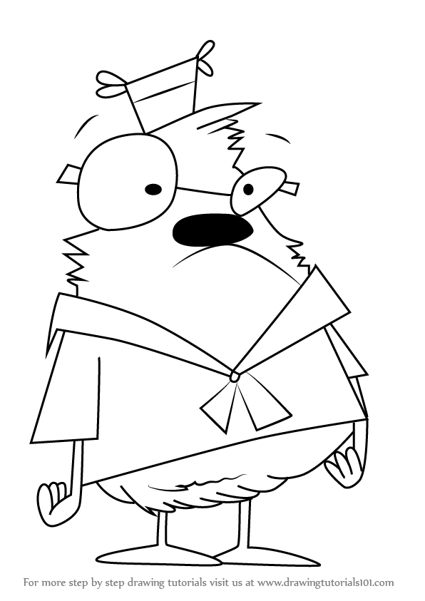 596x843 Learn How To Draw Samson From Camp Lazlo (Camp Lazlo) Step By Step