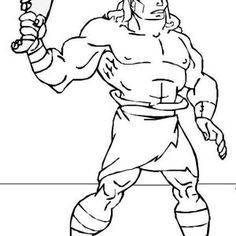 236x236 Picture Of Samson With Jawbone Of An Ass Coloring Page Kid'S