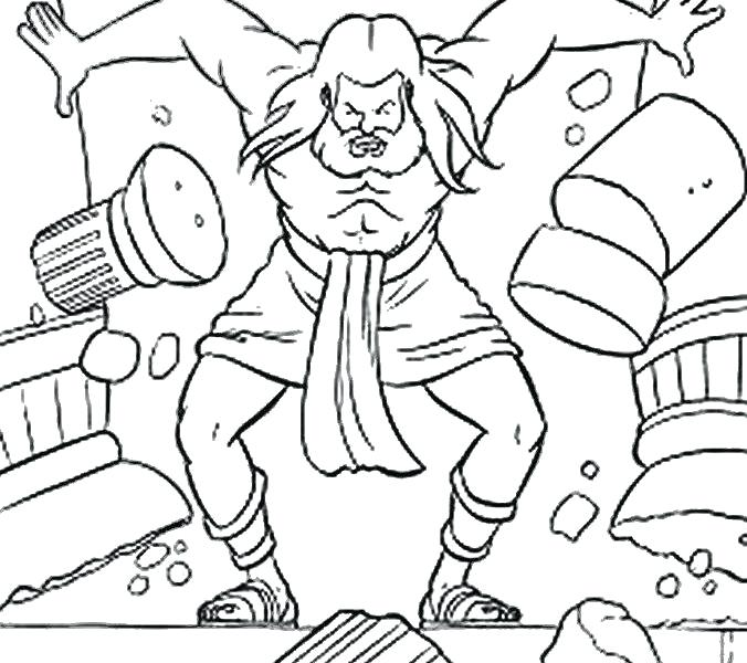 676x600 Samson And Delilah Coloring Page Coloring Page Samson And Delilah