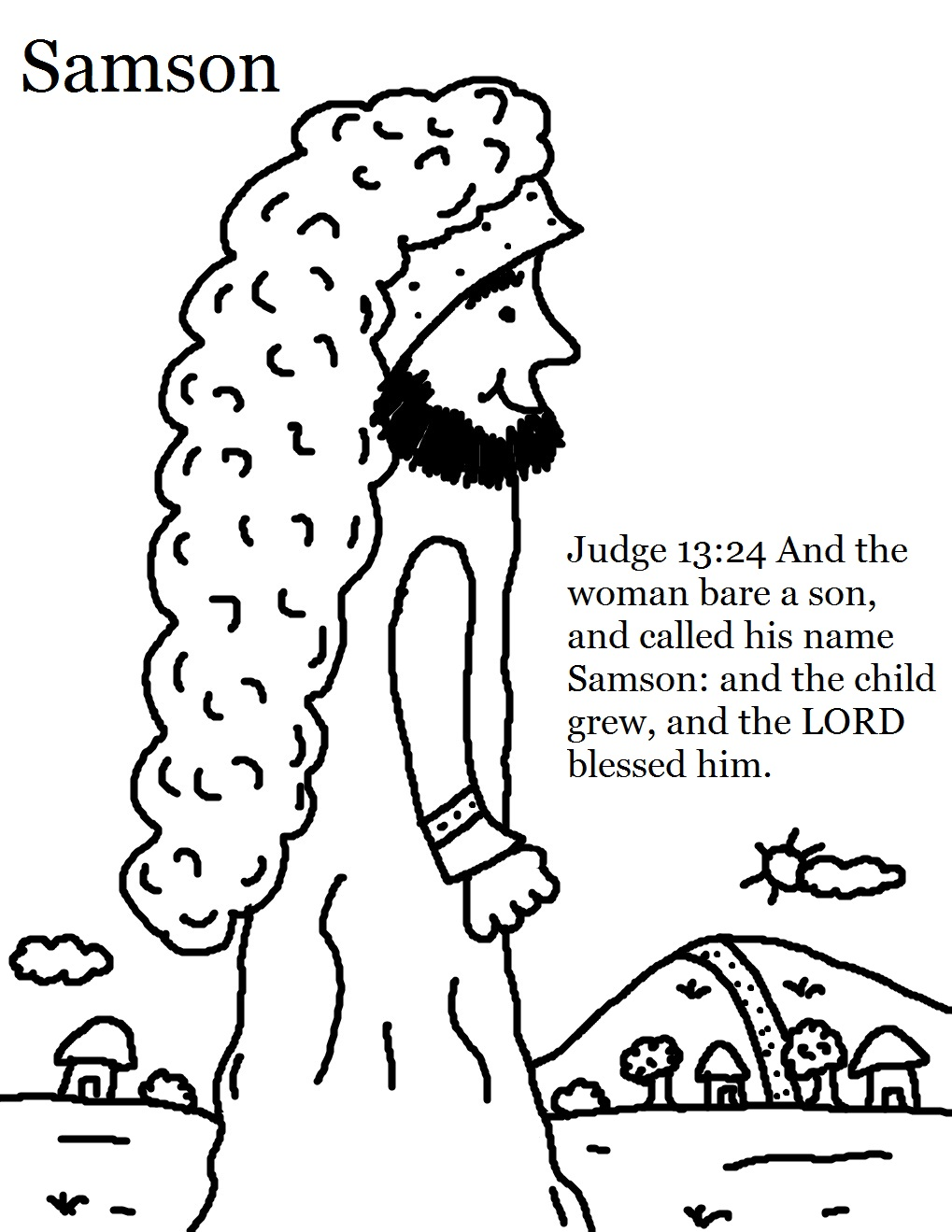 1019x1319 Samson Bible Story Coloring Pages