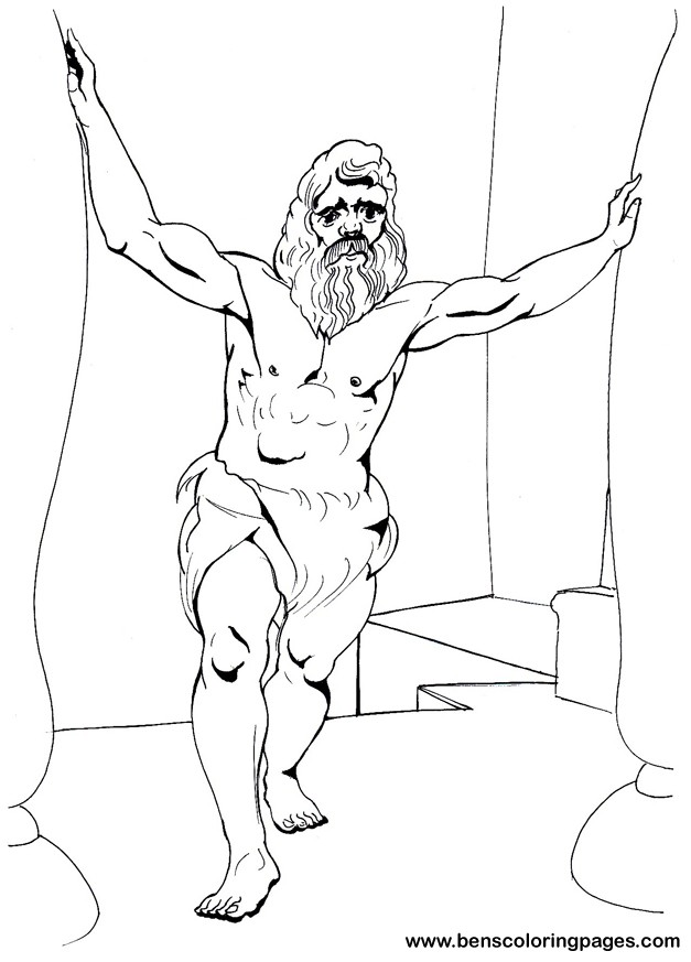 627x873 Bible Samson Coloring Pages.