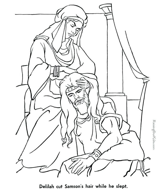 670x820 Surprise Samson And Delilah Coloring Page Top Rated Images Bible