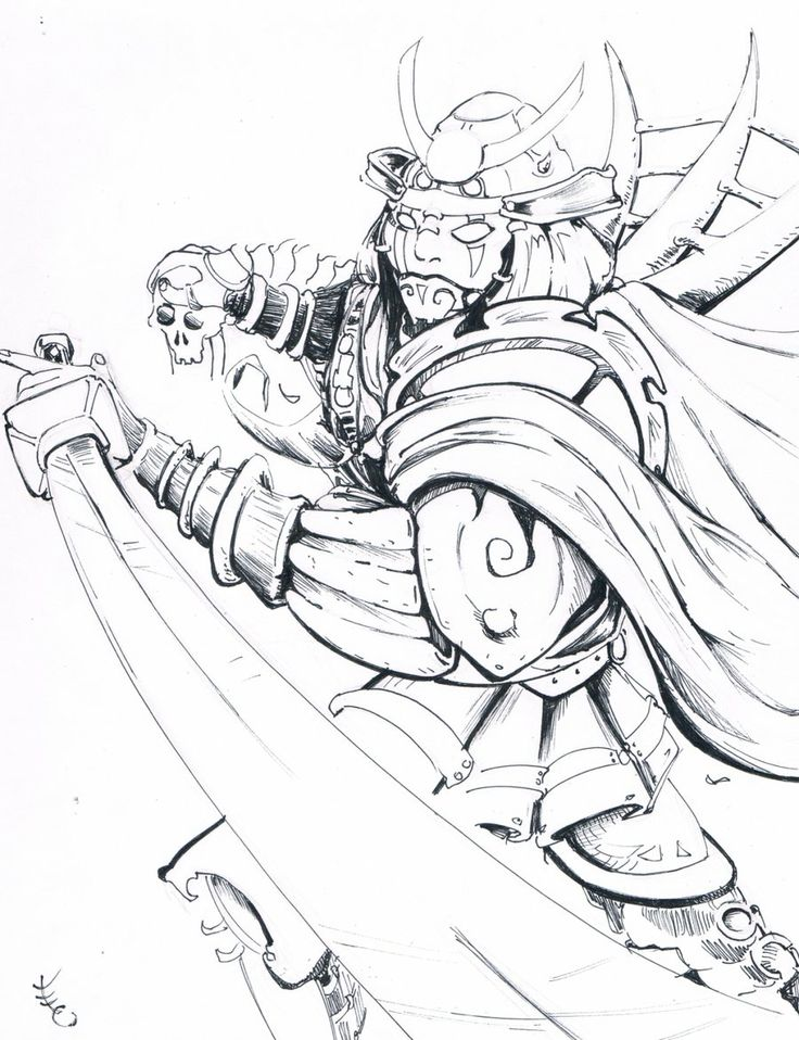Samurai Armor Drawing