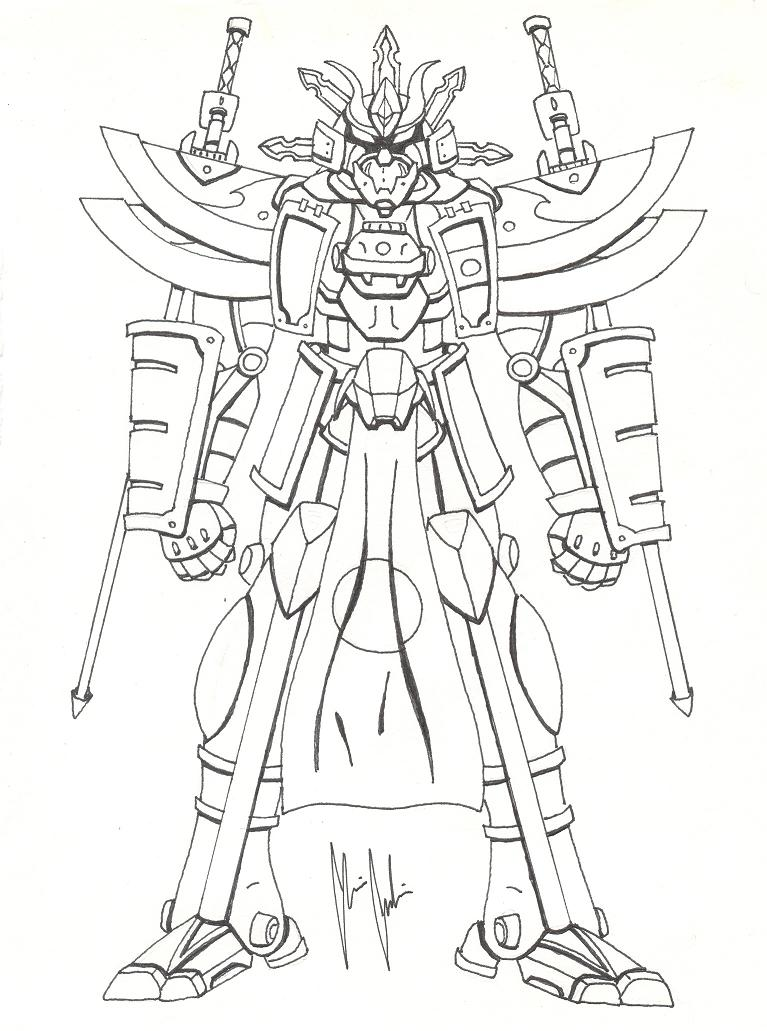 767x1031 High Samurai Mecha By Mrgilder